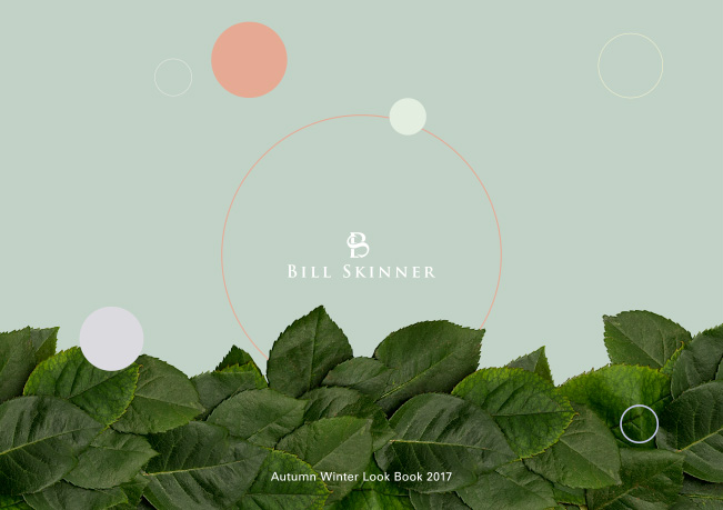 Front cover of the Bill Skinner autumn winter 2017 digital look book